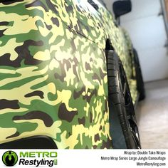 Metro Wrap Series Large Jungle camo is exclusively available at Metro Restyling. Metro Large Jungle camo car wrap by Double Take Wraps Vinyl Wrap Car, We The Best, Double Take, Car Wrap, Easy Install, State Art, Armed Forces, Vivid Colors, Picture Video