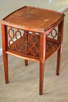 Refurbished end tables on pinterest refurbished dressers for Bright colored side tables