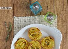 Cómo hacer rosas de patata al horno. Receta para sorprender