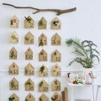 DIY: un calendrier de l'Avent décoré de végétaux