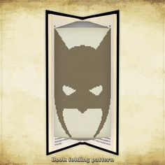 Book folding pattern Batman Mask for 115 folds - ID0000095