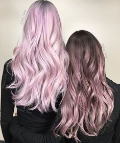 Hair Styles 2018 - (Left) Light Pink Pastel Hair & (Right) Brown to Light Pink Ombre Hair♡ - Flashmode Middle East Metallic Hair Color, Rose Hair Color, Metallic Pink, Hair Colors, Pink Ombre Hair, Pastel Pink Hair, Hair Colour Design, Grunge Hair, Gorgeous Hair