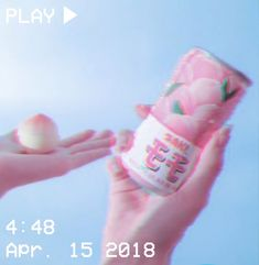 M O O N V E I N S 1 0 1 #vhs #aesthetic #pink #kawaii #blue #squishy #soda #japanese #japan #hands #glitch