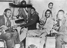 An early edition of the Muddy Waters Band, with Waters (left), Otis Spann (piano) and Jimmy Rogers (far right) Friday Blues Fix: Blues Legends - Muddy Waters