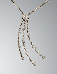 David Yurman - Pave Diamond Confetti Tassel Necklace