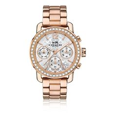 Coach Legacy Sport Multifunction Rose Gold Plated Bracelet Watch
