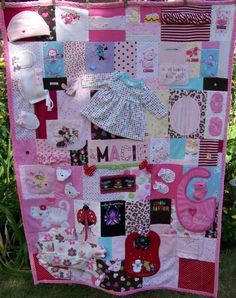 See examples of our memory quilt creations including t-shirt quilts, memorial quilts and baby clothes quilts. Quilt Baby, Onesie Quilt, Baby Memory Quilt, Memory Quilts, Shirt Quilts, Old Baby Clothes, Baby Clothes Quilt, Sewing Crafts, Sewing Projects