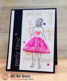 Card by Wei Wei using PartyGirl and Party Time