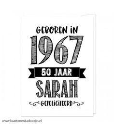Geboren in 1967 50 jaar Sarah