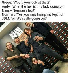 The Walking Dead #GreggNicotero #AndrewLincoln #NormanReedus #JeffreyDeanMorgan & #LuckyGirl