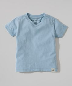 Look what I found on #zulily! Blue Organic V-Neck Tee - Infant & Toddler by Burt's Bees Baby #zulilyfinds