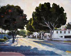 San Luis Obispo Ficus - Oil Painting Landscape - 8x10 on Etsy, $225.00