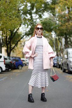 ootd, pink, coat, dress, style Coat Dress, Duster Coat, Ootd, Pink, Jackets, Dresses, Style, Fashion, Woman