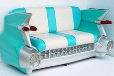 Cute 50's sofa for a mancave