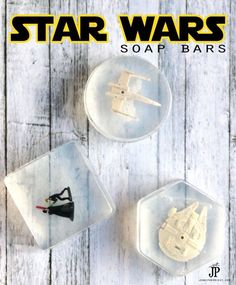 These would be great as party favors, in an Easter basket or as a gift. DIY Star Wars soap bars.
