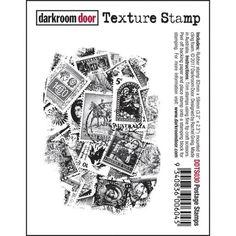 Darkroom Door - Postage Stamps - Red Rubber Cling Stamp | Topflight Stamps, LLC