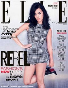 Katy Perry on the ELLE September issue cover