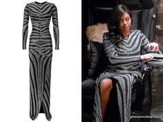 empire-fox-fashion-cookie-lyons-taraji-p-henson-balmain-diamante-zebra-stripe-gown-glamazons-blog