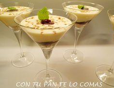 Con tu pan te lo comas: COPA DE MASCARPONE CON MERMELADA DE MORAS