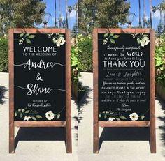 Wedding Decorations Rustic Wedding Sign - Welcome Wedding Chalkboard Sign Thank You Double Sided Sandwich Board - Heart And Hand - Wedding Planning Tips, Wedding Tips, Diy Wedding, Spring Wedding, Elegant Wedding, Glamorous Wedding, Wedding Planner, Dream Wedding, Luxury Wedding