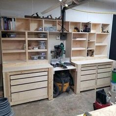 Top 80 Best Tool Storage Ideas - Organized Garage Designs From power to hand t. Top 80 Best Tool Storage Ideas – Organized Garage Designs From power to hand tools and beyond, Garage Tool Storage, Garage Tool Organization, Workshop Storage, Garage Tools, Organization Ideas, Garage Shop, Diy Garage Work Bench, Car Garage, Workshop Shelving