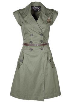 Shopzilla – Olive Green Shirt Dress