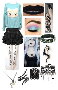 """Gothic Pastel"" by ariwatson ❤ liked on Polyvore featuring ASOS, Ela Stone, AS29, women's clothing, women's fashion, women, female, woman, misses and juniors"