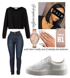 """""""11/27/16 ✨"""" by dxpe-outfits ❤ liked on Polyvore featuring MICHAEL Michael Kors and Puma"""