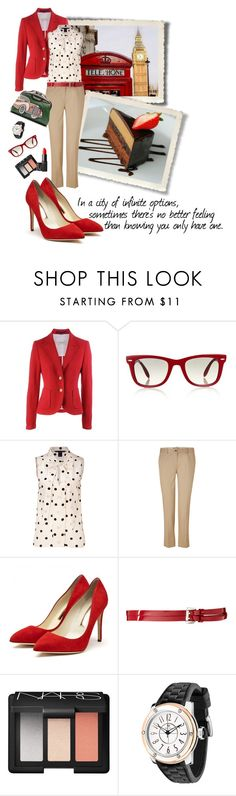 """""""THE PARADOX OF CHOICE"""" by paint-it-black ❤ liked on Polyvore featuring Ray-Ban, Marc by Marc Jacobs, Michael Kors, Prada, Rupert Sanderson, ASOS, NARS Cosmetics and Glam Rock"""