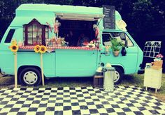 If you have to buy coffee somewhere then it might as well be here: the snuggly coffee van.