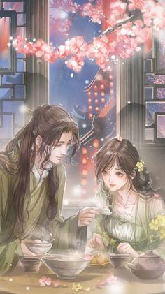 Chinese Drawings, Chinese Art, Chinese Romance Novels, Anime Couple Kiss, Fantasy Couples, Familia Anime, Beautiful Fantasy Art, Anime Couples Drawings, Chica Anime Manga