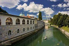 Navegando por Liubliana (Eslovenia)