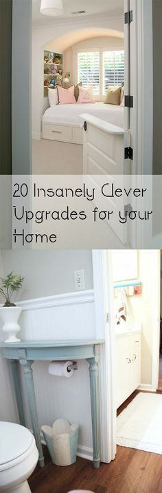 Insanely Clever Upgrades for Your Home- great ideas, tips and tutorials to make your home great.