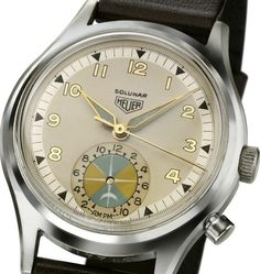 Heuer Solunar- Heuer's first Tide watch