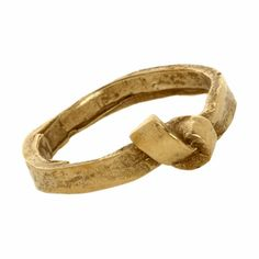 Brass Single Knot Ring at Barneys.com Really like this, simple & rough