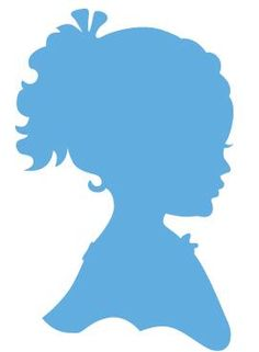 LR0349 Creatable - Silhouette Girl with Ponytail