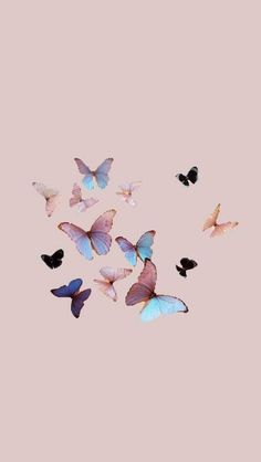 Cute Wallpaper Backgrounds, Pretty Wallpapers, Wallpaper S, Pattern Wallpaper, Butterfly Wallpaper Iphone, Wallpaper Iphone Disney, Aesthetic Pastel Wallpaper, Aesthetic Wallpapers, Cartoon Background