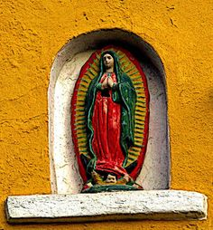 The Virgin of Guadalupe watches over passerbys in Old Mazatlan. Also known as the Centro Historico, this cultural heart of