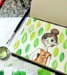 Girl of the watercolor - saturday