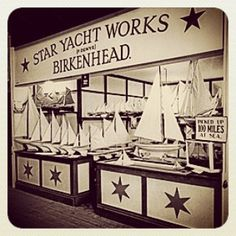 "The ""Star Yachts of Birkenhead"" stand at the 1933 British Industries Fair at Olympia, London. #PondYacht #PondYachts #StarYacht #StarYachts #VintageToy #ToyBoat #ModelYacht"