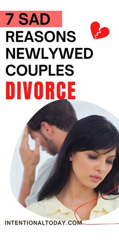 Many young marriages fail because couples try to navigate present difficulties using past negative experiences as their reference point: they cling onto them so fiercely that they derail any opportunities for redemption. Here's 7 sad reasons newlywed couples divorce #marriageadvice #newlywedadvice #marriage #intentionaltoday #divorce #redflags #marriageexpectations #newlyweddivorce #marriageblues #marriagecounselling #intentionalmarriage #baggage #healing