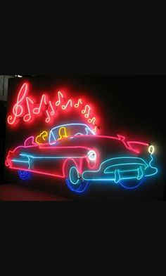 Neon Car, Neon Sign Art, Neon Moon, Neon Words, Vintage Neon Signs, O Gas, Neon Aesthetic, Neon Light Signs, Old Signs