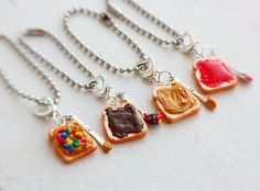 Nutella Peanut Butter Sprinkles/Hundreds and Thousands Best Friends Food Keychain Charms - Miniature Food Keychain. $12.75, via Etsy.