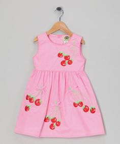 Take a look at this Hot Pink Cherry Dress - Infant, Toddler & Girls by Lil Cactus on #zulily today!