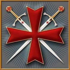 Ordre du Temple or Templiers-The Templars , the Knights of the Order of the Temple of Jerusalem. Templar Knight Tattoo, Knights Templar Symbols, Knights Hospitaller, Crusader Knight, Christian Warrior, Masonic Symbols, Medieval Knight, Freemasonry, Chivalry