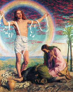 pre-raphaelisme: The Risen Christ with the Two Marys in the Garden of Joseph of Arimathea by William Holman Hunt Thomas Gainsborough, Dante Gabriel Rossetti, Google Art Project, Catholic Art, Religious Art, Catholic Religion, Roman Catholic, Joseph Of Arimathea, John Everett Millais