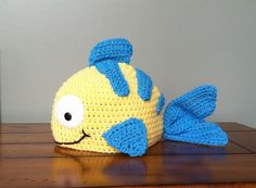 Little Fish Hat Flounder Inspired (You Choose Size Newborn - Adult) Any Color
