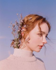 Image about girl in ĞîŔł§ by sasooriza ;) on We Heart It Pictures With Sunflowers, Profile Photography, Ulzzang Girl, Find Image, Pearl Earrings, Portrait, Beauty, Beautiful, Jewelry