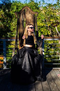 Jessica of The Idioglossia blog wearing our #Allie maxi skirt.   http://vivianchan.com/collections/holiday2013/products/allie