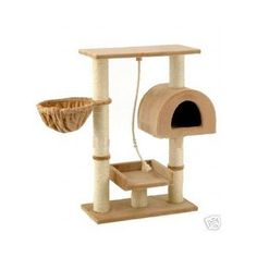 "36"" Cat Tree Condo Furniture Scratch Post Pet House 08B #BestPet   Condo Height:  36"" Post Diameter:  3.5"" Base Dimension:  23""  x 12"" Perch Dimension:  13"" x 12.5""   EBay  $49.99 Free Shipping"